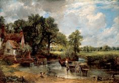 John Constable's The Haywain set in Flatford Mill.