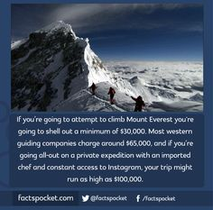 FACTS POCKET | If you're going to attempt to climb Mount Everest...