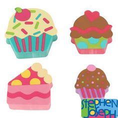 Cupcake Eraser Set by Stephen Joseph (4 pcs.)