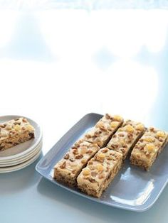 Date, Walnut and Ginger slice