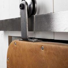 Top Mount Modern Industrial Barn Door Hardware
