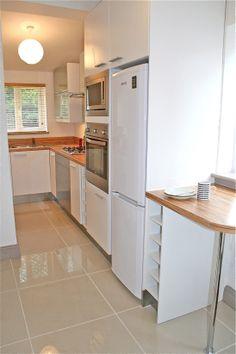 Ikea Applad units, a Zebrano laminate worktop, B&Q floor tiles