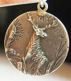 """""""My Deer (Dear)"""" rebus love token charm ~ From the estate of Joan Munkacsi"""