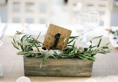 Olive-Wedding-Table-Numbers - really cute Olive Branch Wedding, Olive Wedding, Diy Wedding, Rustic Wedding, Wedding Ideas, Branches Wedding, Wedding Inspiration, Branch Centerpieces, Wedding Table Centerpieces