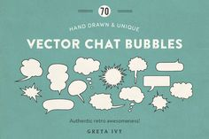 Vector Chat Bubbles • New Update by Greta Ivy on @creativemarket