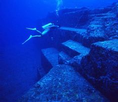 Yonaguni Monument which is off the coast of Yonaguni, the southernmost of the Ryukyu Islands, in Japan.
