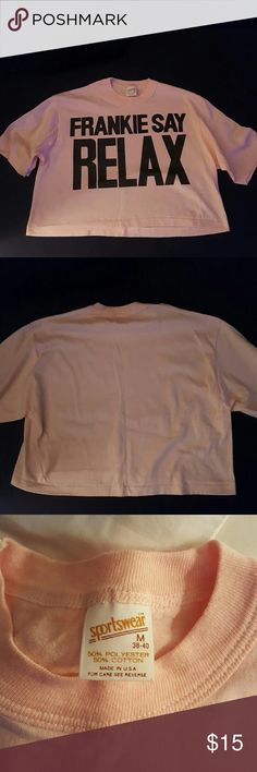 Vintage Crop Top 1980's FRANKIE SAY RELAX  crop top .perfect condition. Polyester cotton. Made in the USA sportswear Tops Crop Tops