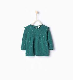 Shiny frilly large blouse-T-shirts-Baby girl-Baby | 3 months - 3 years-KIDS | ZARA United States