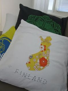 Onni would love this in his room. Reusable Tote Bags, Map, Embroidery, Sewing, Boys, Baby Boys, Needlepoint, Dressmaking, Couture