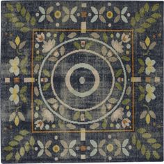 """Shop petal hand-knotted rug 6'.   """"A combination of Scandinavian and quilting influences,"""" is how designer Bryn E.  Namavari describes her creation."""