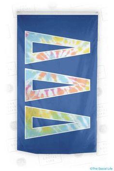 Tri Delta Tie Dye Flag