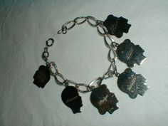 charm bracelet sterling silver vintage by qualityvintagejewels, $88.00