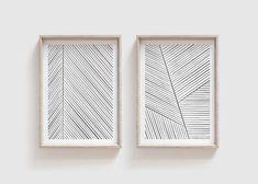 Set of 2 Black & White Geometric Print Line Prints Geometric Wall Art, Geometric Lines, Printing Services, Online Printing, Minimalist Nursery, Monochrome Nursery, Rainbow Print, Stripe Print, As You Like