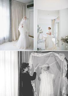 A wedding veil styled gorgeously.