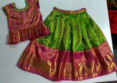 Baby Girl Lehenga, Kids Lehenga, Baby Frocks Designs, Kids Frocks Design, Kids Dress Wear, Dresses Kids Girl, Baby Frocks Party Wear, Kids Ethnic Wear, Kids Blouse Designs