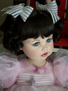 Nancy Peterson's Personal Collection.  Marie Osmond Doll, Susie Butterfly, sculpted by Lisa Hatch