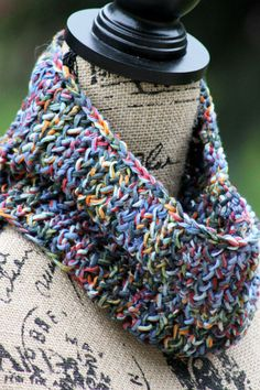 81-Yard Cowl - one-skein knitting patterns