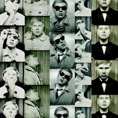 Andy Warhol was the first art promoter of the photobooth. Starting in the late and through the Warhol understood the photobooth. Andy Warhol, Studio 54, James Rosenquist, Life Is Ruff, Vintage Photo Booths, Claes Oldenburg, Jasper Johns, Damien Hirst, Portraits