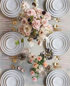 Tablescape Magic - Tablescape Magic by Casa de Perrin Oh-- these tabletop visions are a pure delight! Perfect for Fall Headquartered in Los Angeles, California, Casa de Perri Popular Wedding Colors, Trendy Wedding, Dusty Rose Wedding, Wedding Flowers, Rose Centerpieces, Ivory Roses, Pink Roses, Floral Backdrop, Pink And White Flowers