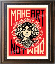 Make Art...Not War POSTER 14 x 20 large peace print by POSTERORAMA, $15.00