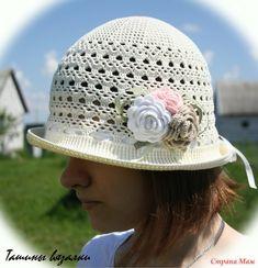 Всем доброго дня! Хочу показать шляпку, которую связала для знакомой. Пряжа Сосо от Vita (молочного цвета), крючок № 1,25