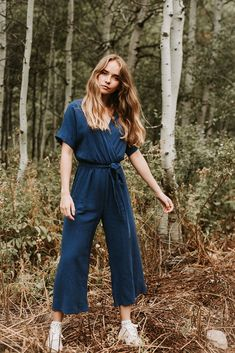 3a68f1b7a845 The Wyoming Wrap Jumpsuit in Blue