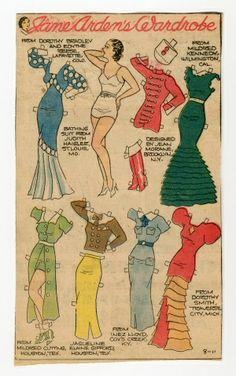 8-11-30's Jane Arden paper doll / eBay
