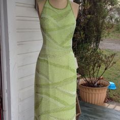 Floor length evening gown Lime Green Scala Evening Gown. Scala Dresses Strapless
