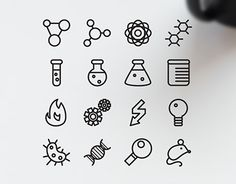 """Check out new work on my @Behance portfolio: """"16 Science Icons"""" http://be.net/gallery/32255475/16-Science-Icons"""