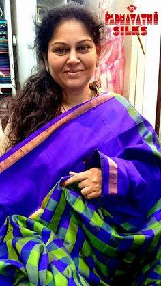 Mrs.Kulkarni, happy client Sri Padmavathi Silks, Ph: +91 9821054556