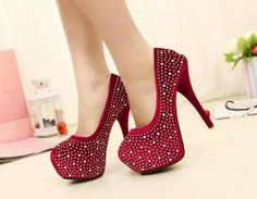 Red sparkly heels