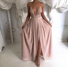 Maxi Slit Elegant Dress 2 Colors
