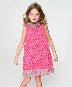 Look at this Pink Tulip Shift Dress - Toddler & Girls on #zulily today!