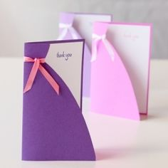 This simple card is easy to make and would be pretty to give to a bridesmaid, a mom or a birthday girl!