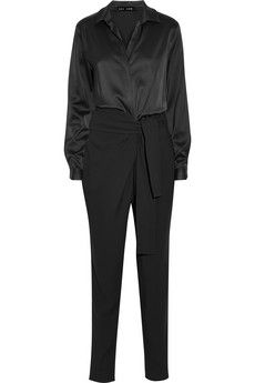 Jay Ahr Satin and stretch-crepe jumpsuit | NET-A-PORTER