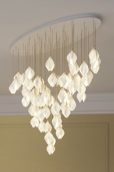 Bloom by Haberdashery is a lighting range inspired by the first blooms of spring London Design Week, Create A Board, Luxury Lighting, Light Installation, Dining Tables, Luxury Interior, Dream Homes, Bud, Cable