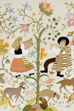 Temática, Técnica e Materiais Folk, Patches, Kids Rugs, Embroidery, Antiques, Decor, Hand Embroidery Stitches, Embroidery Stitches, Embroidery Ideas