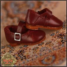 RUBY RED GALLERIA Ten Ping Burgundy Leather Mary Jane Shoes HH0004A  New NRFB
