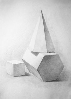 Geometric Shapes Art, Geometric Drawing, Animal Drawings, Pencil Drawings, Still Life Sketch, Easy Still Life Drawing, Drapery Drawing, Pencil Drawing Inspiration, Perspective Drawing Lessons
