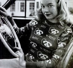An adorable novelty sweater from the 1940s. Photo by Nina Leen