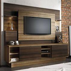 Estante Home Para Tv Até 55 Polegadas Aron Linea Brasil Capuccino Wood / Ébano << R$ 58550 em 10 vezes >>