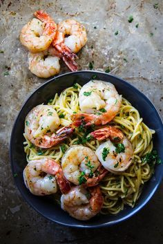 Shrimp Scampi (gluten and dairy free!)