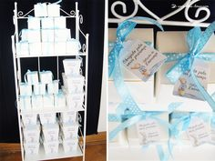 The guests' souvenirs for this Peter Rabbit themed baptism party