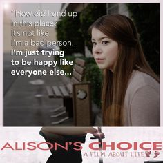 Some time the right choice is the most difficult choice to make. www.facebook.com/alisonschoice