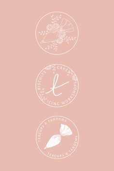 Logo & Branding design for Teacups & Tandems – by Bea & Bloom Creative Design St… – Expolore the best and the special ideas about Bakery logo design Baking Logo Design, Cake Logo Design, Bakery Design, Menu Design, Logo Branding, Cake Branding, Bakery Packaging, Corporate Branding, Dessert Logo