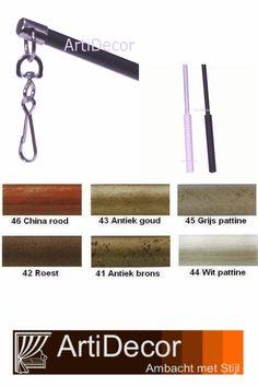 In diversen kleuren verkrijgbaar en met een sterke clip voor bevestiging. 1 meter lang 100% metaal. Vragen? wij van ArtiDecor staan voor u klaar. 072-5158252