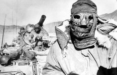 U.S. Soldiers wearing their winter gear during the Korean War; ca. 1951