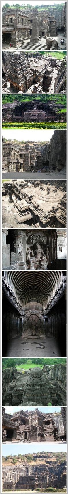 Ajanta & Ellora Caves: Cave Hindu temples of India. In the Indian state of Maharashtra is the village of Ajanta & Ellora with incredible Temples carved into the mountain Charanandri by ancient Indian architects & engineers. Ellora – the official World Heritage Site by UNESCO. The caves consist of 27 Hindu temples built during the 100BC – a sign of Hindu religious harmony that has prevailed in India.