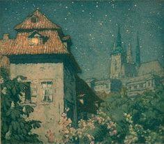 TAVÍK FRANTIŠEK ŠIMON (1877-1942) Flores y Palabras, nocturnos