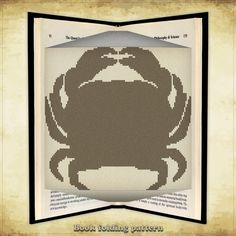 Book folding pattern Crab for 319 folds - ID0069965